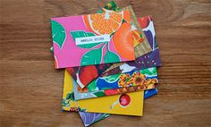 Colorfully Illustrated Business Cards - A bit much, but I like the tropical spirit Graphic Design Typography, Lettering Design, Logo Design, Business Card Maker, Unique Business Cards, Name Card Design, Bussiness Card, Grafik Design, Name Cards