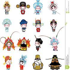beijing opera characters in cartoon - Google Search