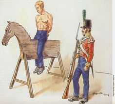 An uncomfortable form of punishment in the British and American armies during the #Warof1812
