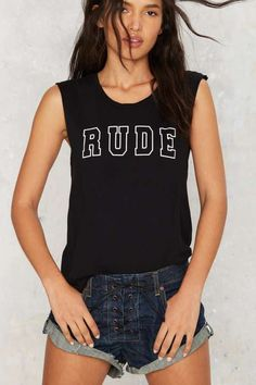 Hips and Hair Rude Muscle Tank - What's New