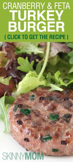 Get The Skinny On These Delicious Cranberry & Feta Turkey Burgers!!!