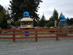 As of 2013, this awesome McDonaldland Playland remake park posted by Zach Manley could be seen at a campground in South Island New Zealand featuring an Officer Big Mac Climber, Evil Grimace Bounce & Bend, and Hamburglar Swing set!