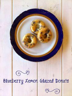 Die Glücklichmacherei: Blueberry Lemon Glazed Donut {oder: ein Stück vom Sommer}
