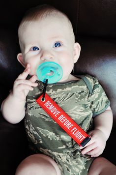 Remove Before Flight Pacifier Clip / Toy Leash. The even give a discount for over 20 for new arrivals in the whole unit. Adorable!!!
