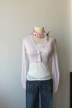 Light Pink Cardigan Agnes b Vintage by TequilaCloset on Etsy, $32.00