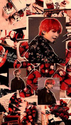 the Red < very cute like strawberris :)) Foto Bts, Bts Photo, Bts Taehyung, Bts Bangtan Boy, Bts Jimin, Bts Bg, Bts And Exo, Wallpapers Tumblr, Tumblr Backgrounds