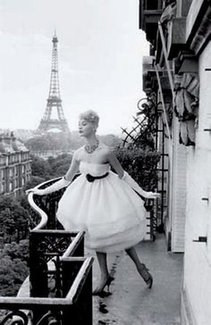 Model in Paris, 1958, Photo by Christian Lemaire.