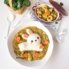 Dancing Chef Curry Bunny Foodart