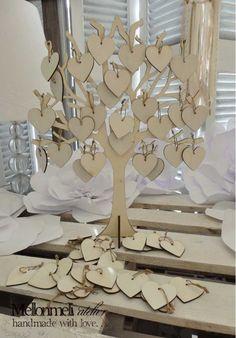 Ξύλινο δέντρο ευχών με καρδιές Frame, Wedding, Home Decor, Casamento, Homemade Home Decor, A Frame, Weddings, Frames, Hoop