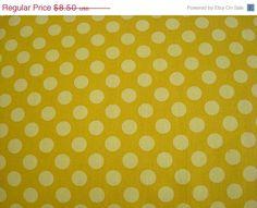 ON SALE Ta Dots Mustard Fabric by Michael by sewcraftscorner, $7.57