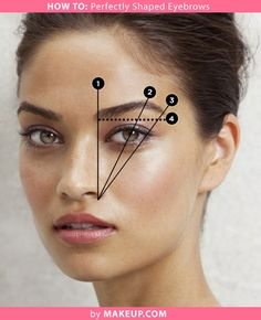 tutorial on how to get perfectly shaped eyebrows. I hate seeing women who have plucked their eyebrows too far apart!