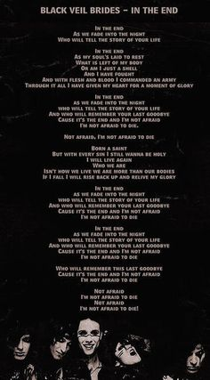 In the End Lyrics ~~~~~~Not Mine