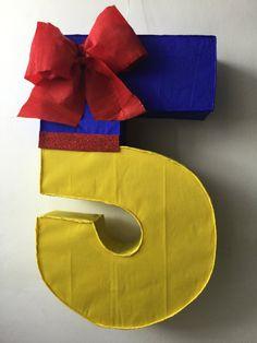 Piñata inspirada en Blanca Nieves numero 5 por aldimyshop en Etsy