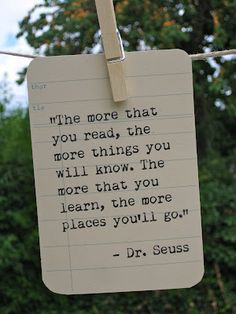 We love you Dr. Seuss