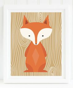 Another great find on #zulily! Brown Woodland Fox Print #zulilyfinds