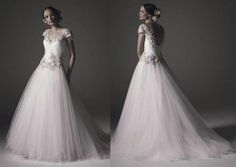 2016 Beading Cap Sleeves Wedding Dresses Adriana Ball Gown Beaded Lace Applique V Neck Ruched Tulle Open Back Floor Length Bridal Gowns Ball Gown Style Wedding Dresses Ball Gown Wedding From Bestdavid, $180.91| Dhgate.Com
