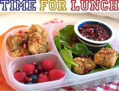 Easy Lunchbox for School - Meal prep with Coconut Oat Crusted Chicken