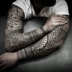 Top 47 Geometric Sleeve Tattoo Ideas Inspiration Guide] - 50 Geometric Tattoo Sleeve Designs For Men – Complex Ink Ideas - Geometric Tattoo Sleeve Designs, Geometric Mandala Tattoo, Geometric Tattoos Men, Tattoo Designs Men, Tattoo Abstract, Design Mandala, Mandala Art, Tribal Tattoos, Tattoo Sleeve Filler