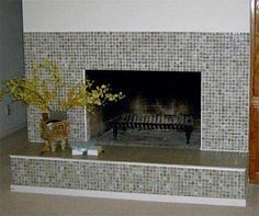 HD Superb Fireplace Tile Ideas Tile Fireplace Design Ideas home decorating tips from our interior designer, Emily Morris with 114 kB and 800 x 669 Modern Fireplace Tiles, Slate Fireplace Surround, Mosaic Tile Fireplace, Tall Fireplace, Brick Fireplace Makeover, Fireplace Surrounds, Fireplace Design, Fireplace Mantels, Fireplace Ideas