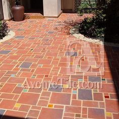 Rustic Terracotta tiles are hand-made clay tiles that are high-fired stoneware also known as quarry tile. These tiles are distinguished by their color variation and irregularity. Details on our blog: http://ht.ly/Tb0s3 // #architecture #commercialdesign #designer #flooring #exteriors #hardscaping #hospitalitydesign #interiors #landscaping #handmadetile #madeinusa #rustic #Spanishstyle #Spanishtile #terracotta #tiles #tilelove #tileaddiction #tilework #walkways #walltile by aventetile
