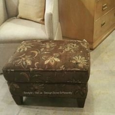 The perfect size ottoman! Just Reduced! $75 #restylechicago #tomsprice https://www.instagram.com/p/BMEzxZ3hmcm/