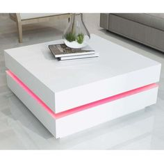 Buy Tiffany White High Gloss Cubic LED Coffee Table from - the UK's leading online furniture and bed store
