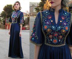 Vestido de brechó <3  #70's #70'sdress #vestidobordado #vintage #brechó #vestidovintage