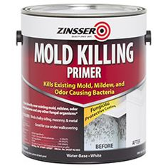 Zinsser Mold Killing Primer is a water based fungicidal protective coating that can be used to paint over all existing mold, mildew, moss, fungi, odor causing bacteria and any other fungal organisms. The Mold Killing Primer contains an EPA registered antimicrobial to prevent the growth of mold, mildew and other fungal organisms on the paint film. The Mold Killing Primer also aides in covering residual microbiological and fungal stains.