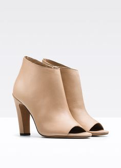 Designer Trench Coats, Sports Luxe, Leather Booties, Designer Shoes, Heeled Mules, Autumn Fashion, Peep Toe, Booty, Fall 2015