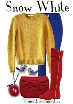 Snow White Outfit<3 @Hannah Mestel Mestel Mestel Mades should just wear this