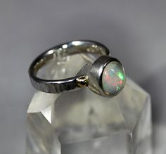 Hey, I found this really awesome Etsy listing at https://www.etsy.com/listing/592586672/large-neon-blue-green-welo-opal-ring-set