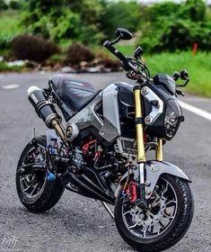Kawasaki Bikes, Honda Bikes, Honda Motorcycles, Custom Motorcycles, Best Motorbike, Scooter Motorcycle, Honda Grom Custom, Grom Bike, Power Bike