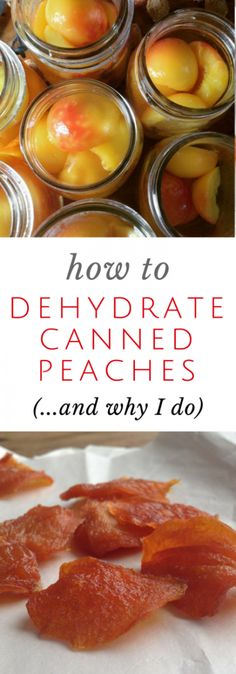 Can you dehydrate canned peaches? You bet you can! SO easy. So healthy. SO tasty! Dehydrated Vegetables, Dehydrated Food Recipes, Dehydrated Bananas, Jerky Recipes, Nutella Recipes, Veggies, Canned Food Storage, Canned Peaches, Dried Peaches