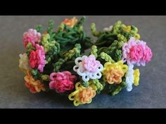 Rainbow Loom™ Chrysanthemum Bracelet Tutorial - YouTube