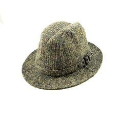 Vintage Irish Crushable Tweed Walking Hat ($18) ❤ liked on Polyvore featuring accessories, hats, tweed fedora, vintage hats, tweed hat, vintage fedora hat and fedora hat