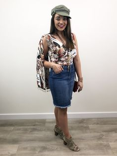 Only presents this stylish light blue denim mini skirt which is designed with ripped paneling, a frayed trim and a zip and button front fastening. Ripped Denim Skirts, Denim Mini Skirt, Short Skirts, Mini Skirts, Festival Fashion, Fashion Inspiration, Light Blue, Stylish, Cotton