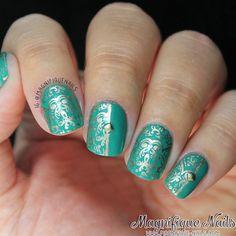 Born Pretty Store: QA73 Stamping Plate Review http://www.magnifique-nails.com/2014/04/born-pretty-store-qa73-stamping-plate.html