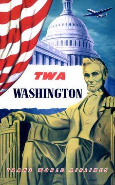 TWA Trans World Airlines Washington