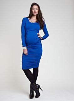 Ruched Midi Maternity Dress | Maternity Dresses | Isabella Oliver Maternity