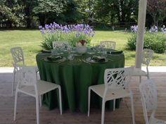 Tavoli del ricevimento in #verde
