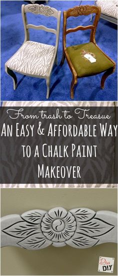 An Easy & Affordable Way to a Chalk Paint Makeover http://divaofdiy.com/easy-affordable-way-chalk-paint-makeover/