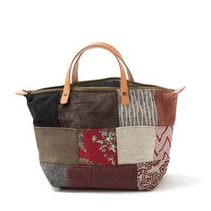 Handbag MilleFeuille Mala de mão em chenille Linho Ganga