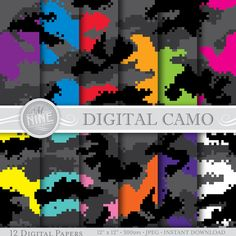 Image result for pixel camo pattern Digital Camo, Neon, Camouflage Patterns, Paper, Handmade Gifts, Artwork, Movie Posters, Etsy, Image