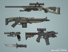 spec-ops weaponry, by biometal79