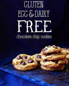 Chewy Vegan Chocolate Chip Cookies (Gluten, Egg & Dairy Free) | Yammie's Gluten Freedom