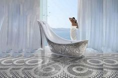 SICIS designed these glass mosaic shoe tubs