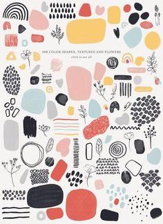 Shape Patterns, Print Patterns, Graphic Patterns, Graphic Design Pattern, Fun Patterns, Graphic Prints, Bullet Journal Ideas Pages, Bullet Journal Inspiration, Pattern Art