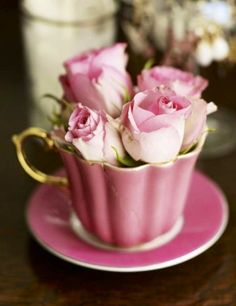 """❤️❤️❤️  This picture says it all - """"teacup roses""""......"""