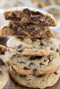 The best chocolate chip cookie recipe. Each cookie has ice cream baked inside!