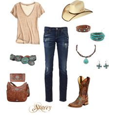 cowgirl style, created by mrscowboy.polyvore.com